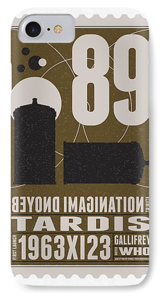 Starschips 89-bonus-poststamp - Dr Who - Tardis IPhone Case