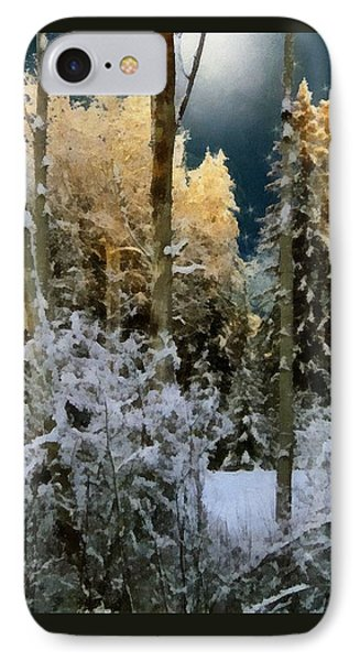Starshine On A Snowy Wood IPhone Case by RC deWinter