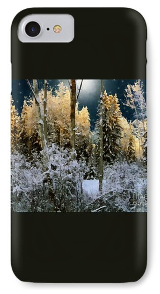 Starshine On A Snowy Wood Phone Case by RC deWinter