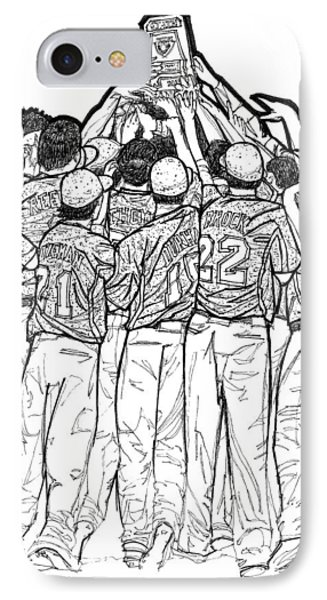 IPhone Case featuring the drawing State Champions by Calvin Durham