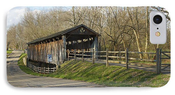 State Line Or Bebb Park Covered Bridge Phone Case by Jack R Perry