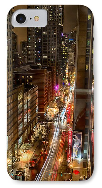 State Street - Chicago - 12-14-13 IPhone Case by Michael  Bennett