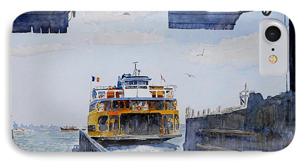 Staten Island Ferry Docking IPhone Case by Anthony Butera