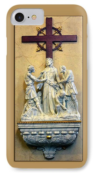 Station Of The Cross 10 Phone Case by Thomas Woolworth