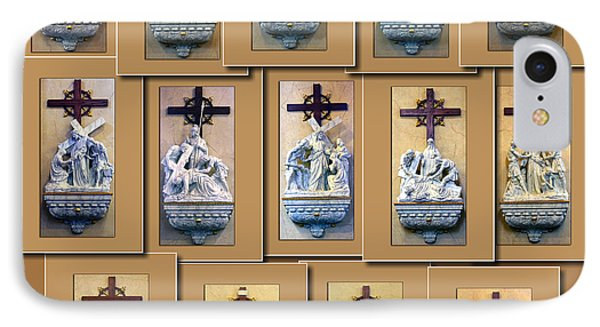 Stations Of The Cross Collage IPhone Case by Thomas Woolworth