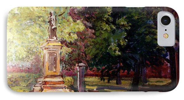 Statue In  Landscape IPhone Case by Stan Esson