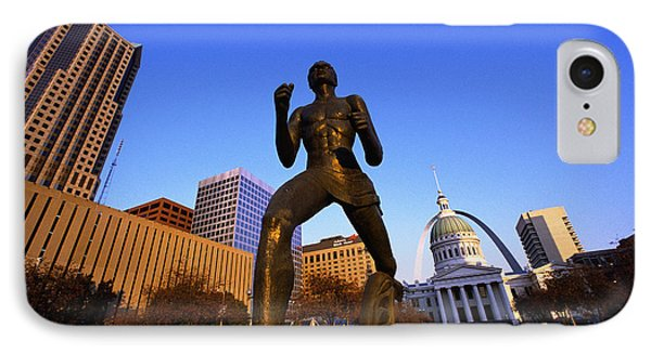 Statue Near Old Courthouse St Louis Mo IPhone Case by Panoramic Images