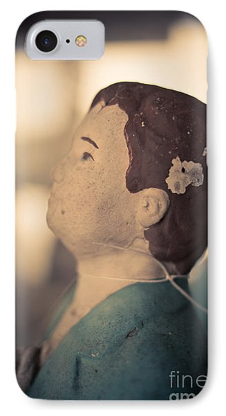 Statue Of A Boy Praying IPhone Case by Edward Fielding