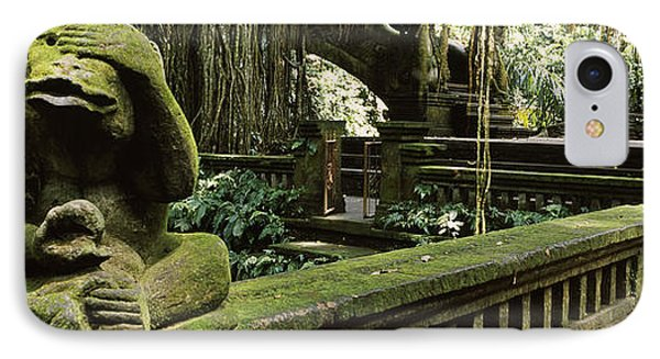 Statue Of A Monkey In A Temple, Bathing IPhone Case by Panoramic Images