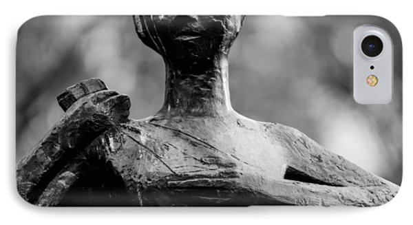 Statue Of A Woman In Black And White IPhone Case