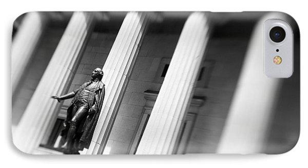 Statue Of George Washington Phone Case by Tony Cordoza