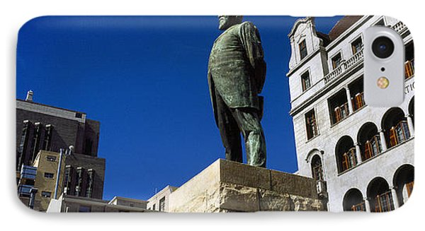 Statue Of Jan Hendrik Hofmeyr At A Town IPhone Case by Panoramic Images