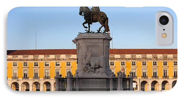 Statue Of King Jose I In Lisbon At Sunrise IPhone Case by Artur Bogacki