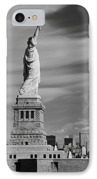 Statue Of Liberty And The Freedom Tower IPhone Case by Dan Sproul