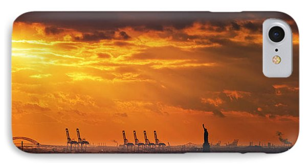 Statue Of Liberty At Sunset. IPhone Case