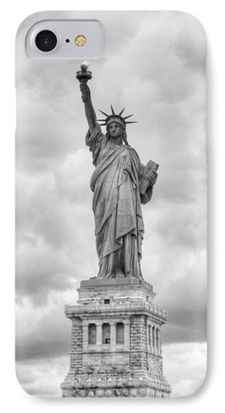 IPhone 7 Case featuring the photograph Statue Of Liberty Full by Dave Beckerman