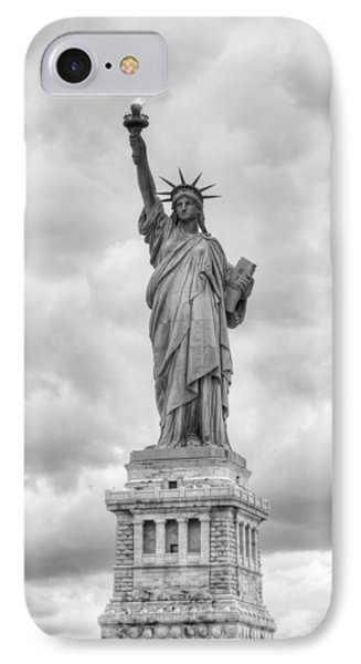 IPhone Case featuring the photograph Statue Of Liberty Full by Dave Beckerman
