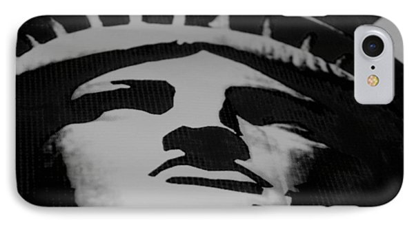 Statue Of Liberty In Black And White Phone Case by Rob Hans