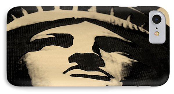 Statue Of Liberty In Dark Sepia Phone Case by Rob Hans