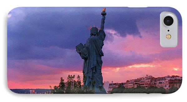 Statue Of Liberty In Paris Phone Case by John Malone