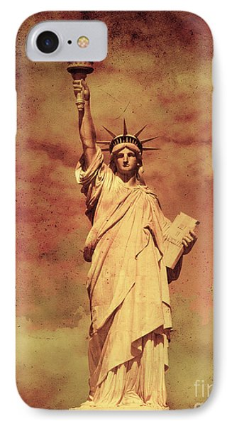 Statue Of Liberty IPhone Case by Mohamed Elkhamisy