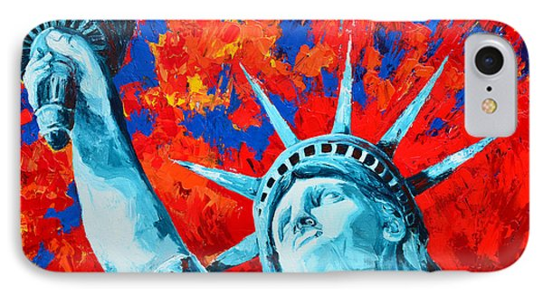 Statue Of Liberty - Lady Liberty IPhone Case by Patricia Awapara