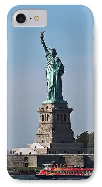 Statue Of Liberty IPhone Case by Rona Black