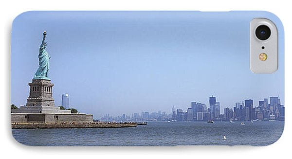 Statue Of Liberty With Manhattan IPhone Case