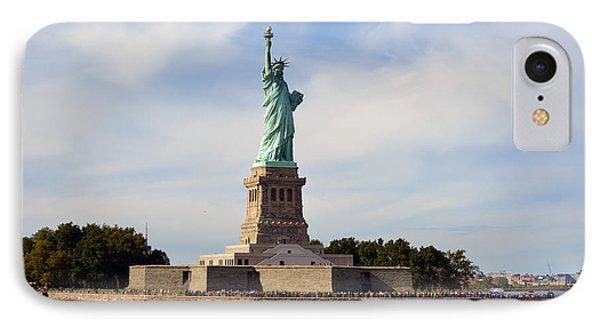 IPhone Case featuring the photograph Statue Of Liberty by Yue Wang