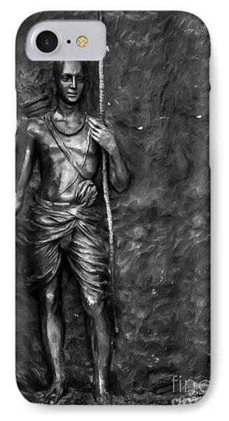 Statue Of Lord Sri Ram IPhone Case by Kiran Joshi