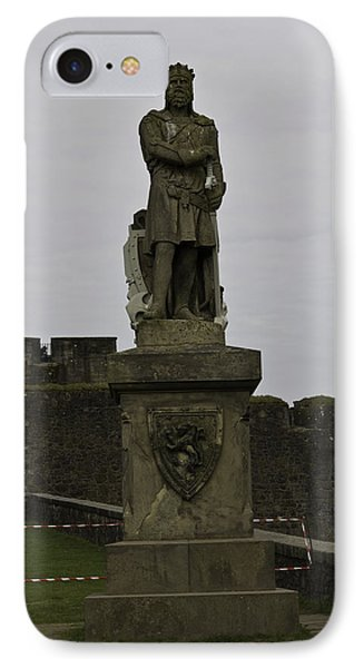 Statue Of Robert The Bruce On The Castle Esplanade At Stirling Castle IPhone Case by Ashish Agarwal