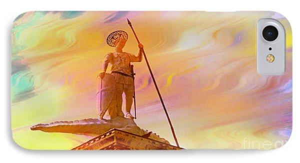 Statue Of St. Theodor Venice Italy - 2 IPhone Case