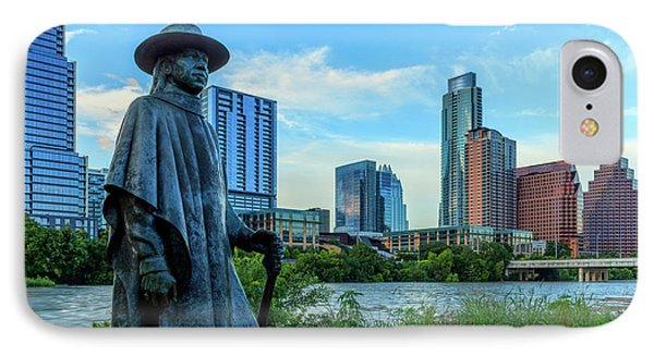 Statue Of Stevie Ray Vaughan IPhone Case