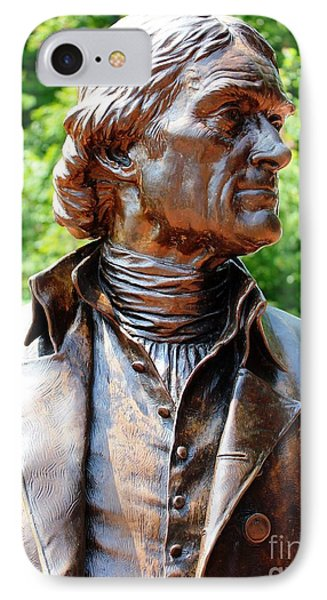Statue Of Thomas Jefferson IPhone Case by Judy Palkimas