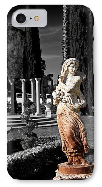 Statue On Mansion IPhone Case