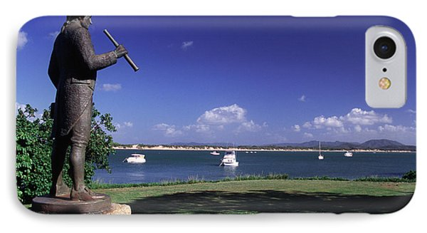 Far North Queensland iPhone 7 Case - Statue On The Cooktown Foreshore by Paul Dymond