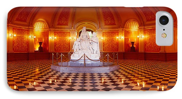 Statue Surrounded By A Railing IPhone Case by Panoramic Images