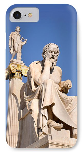 Statues Of Socrates And Apollo IPhone Case