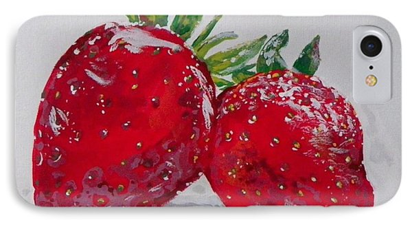 Stawberries IPhone Case by Marisela Mungia