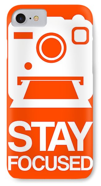 Stay Focused Polaroid Camera Poster 3 IPhone Case