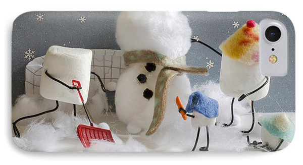 Stay Puff Snowman IPhone Case by Heather Applegate