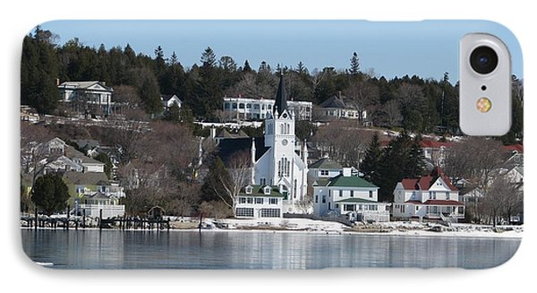 Ste. Anne's Catholic Church On Mackinac Island IPhone Case