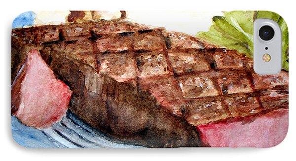 Steak Anyone IPhone Case by Carol Grimes