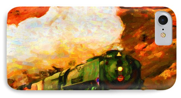 IPhone Case featuring the digital art Steam And Sandstone by Chuck Mountain