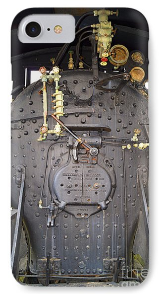 Steam Engine 444 Fire Box And The Controls IPhone Case by Kim Pate