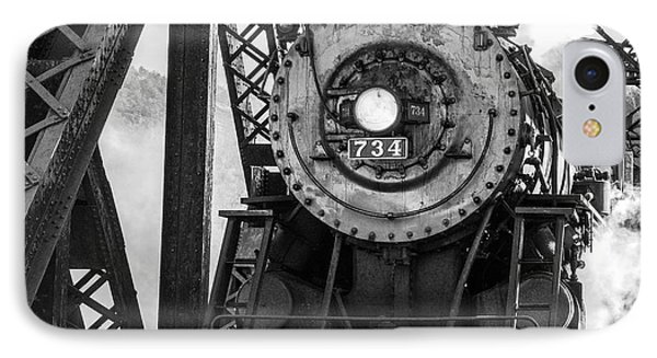 Steam Engine 734 Leaving The Narrows IPhone Case