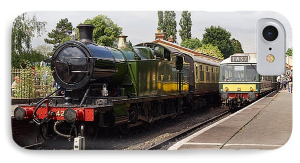 Steam Locomotive At Toddington IPhone Case by Louise Heusinkveld