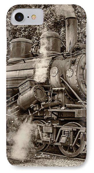 Steam Power Sepia IPhone Case by Steve Harrington