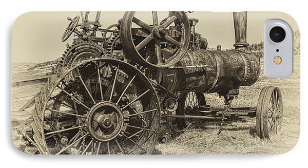 Steam Powered Farm Tractor - Molson Ghost Town IPhone Case