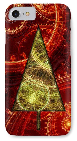 Steam Punk Christmas 1 IPhone Case by Martin Capek
